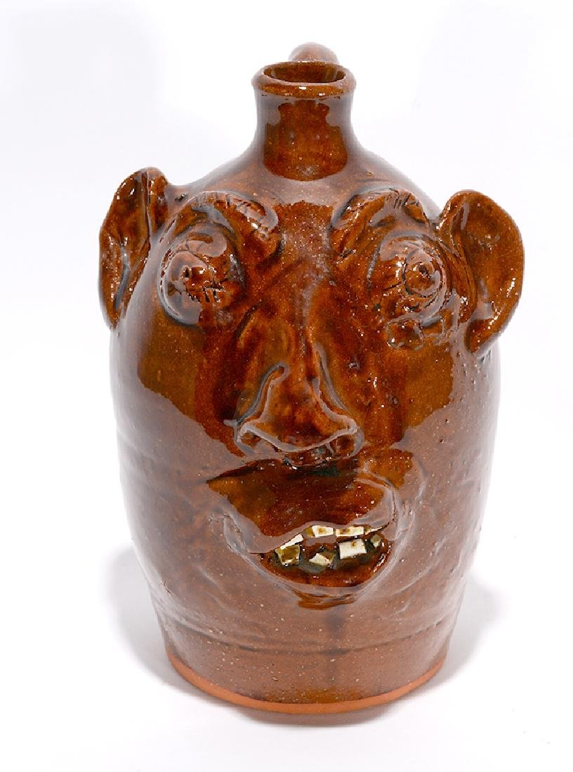 Louis Brown. Traditional Face Jug.