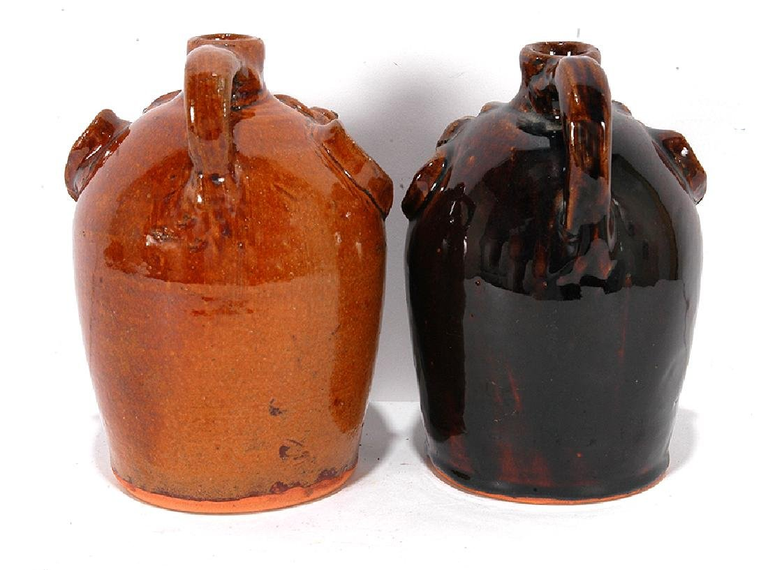 Brown Pottery. Pint Sized Face Jugs. - 3