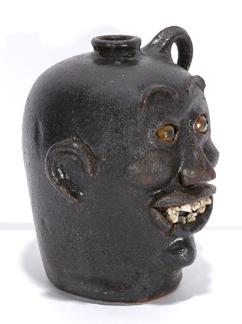 Charlie West. Rock Tooth Early Style Face Jug. - 3