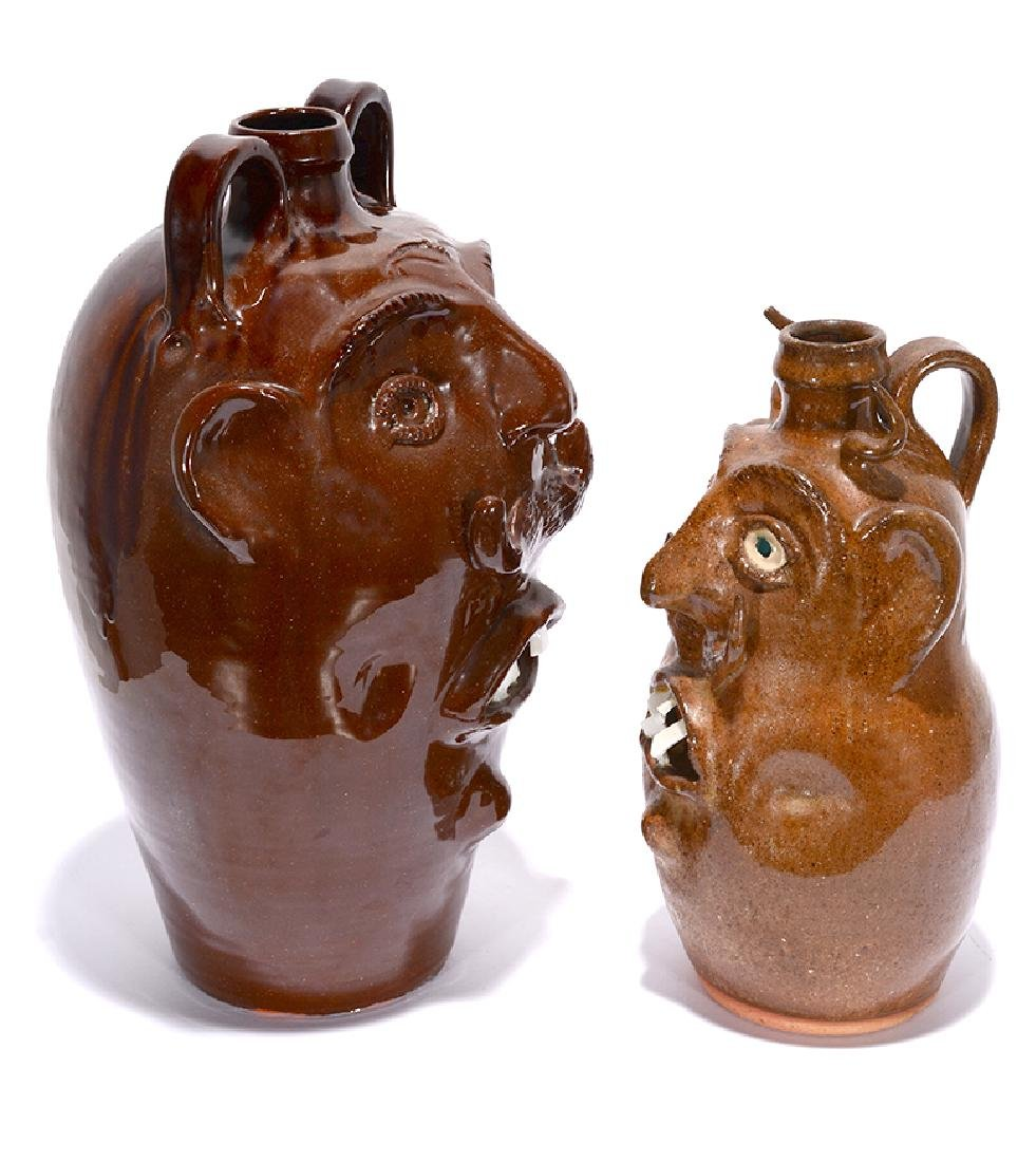 R.A. Oakland Pottery. Face Jugs. - 2