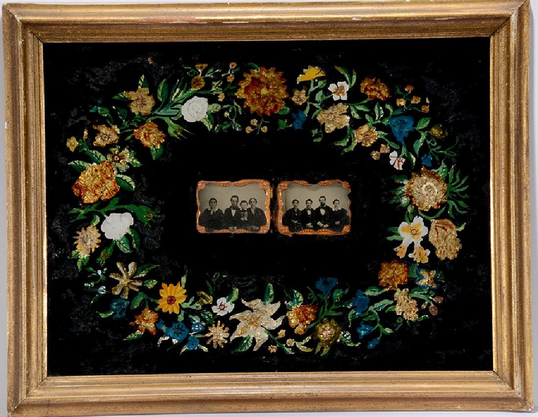 Floral Daguerreotypes. Upstate NY Family.