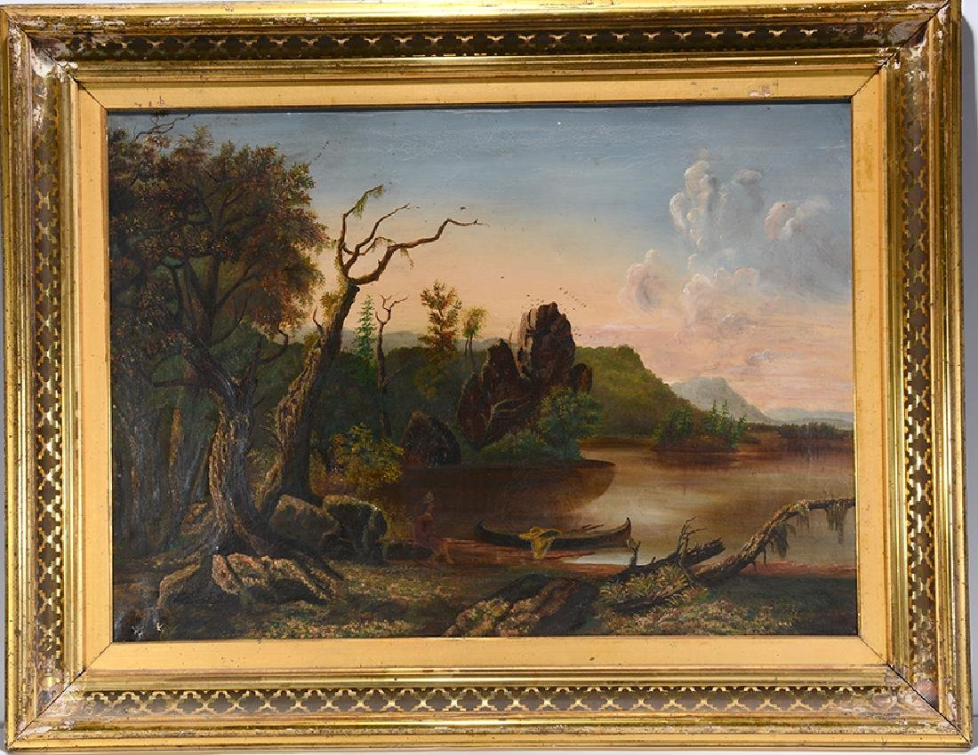 Landscape With Indian.