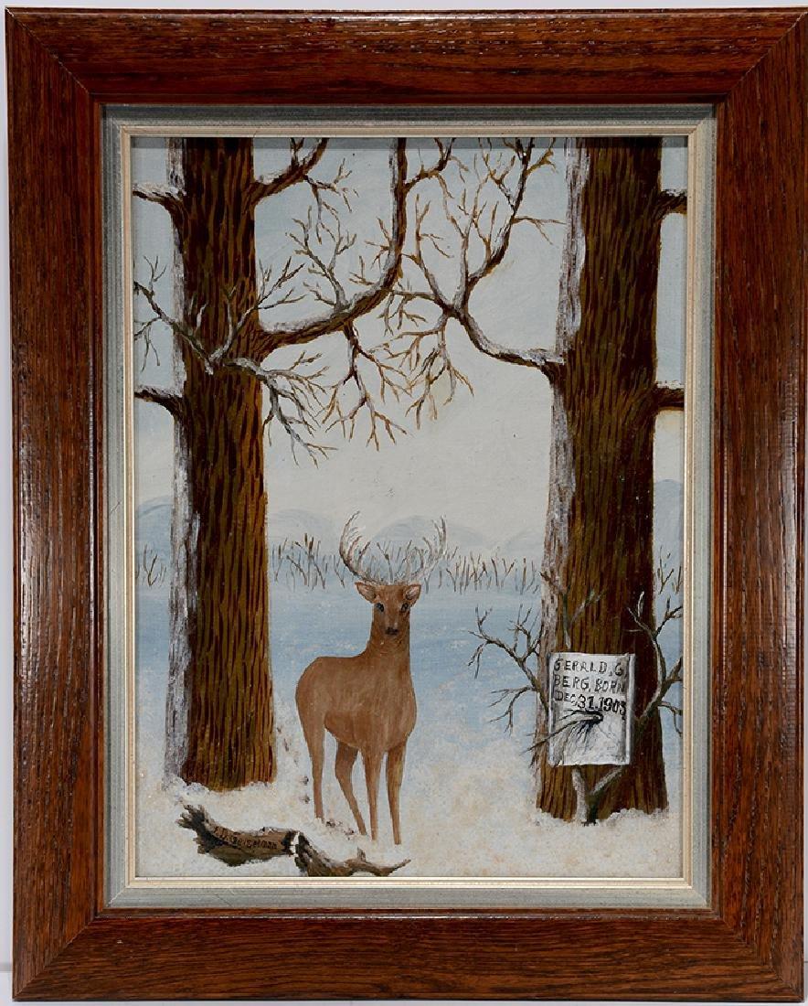 J.D. Geiselman. Deer w Birth Notice.