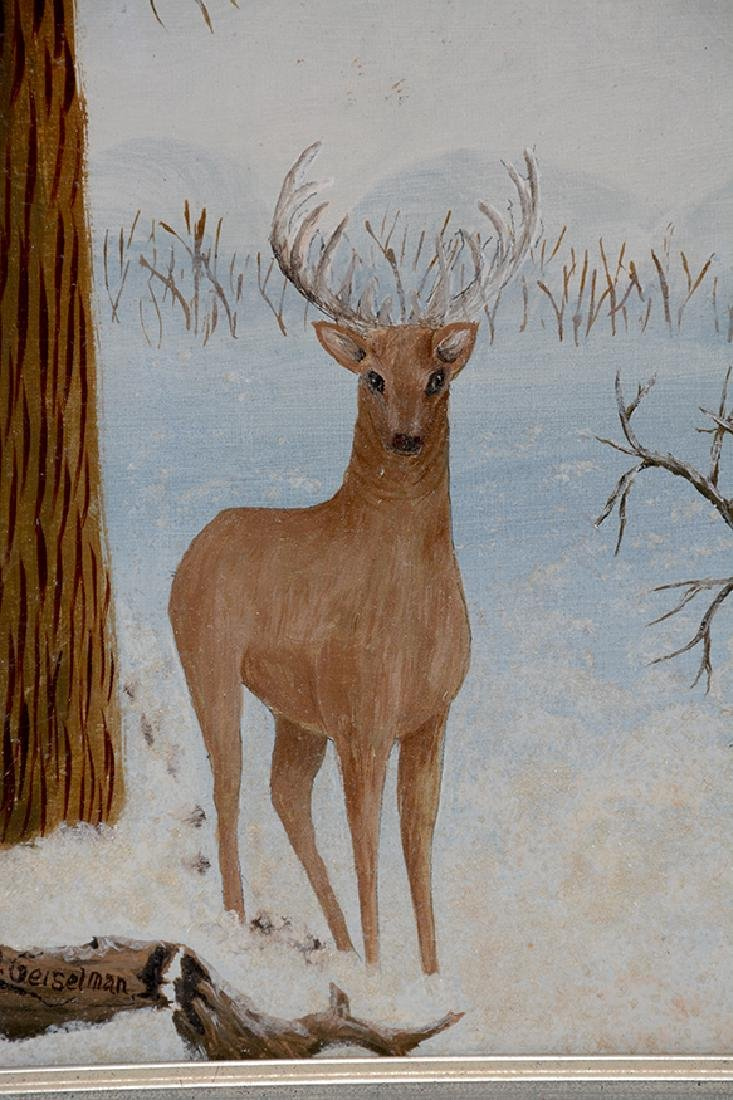 J.D. Geiselman. Deer w Birth Notice. - 2