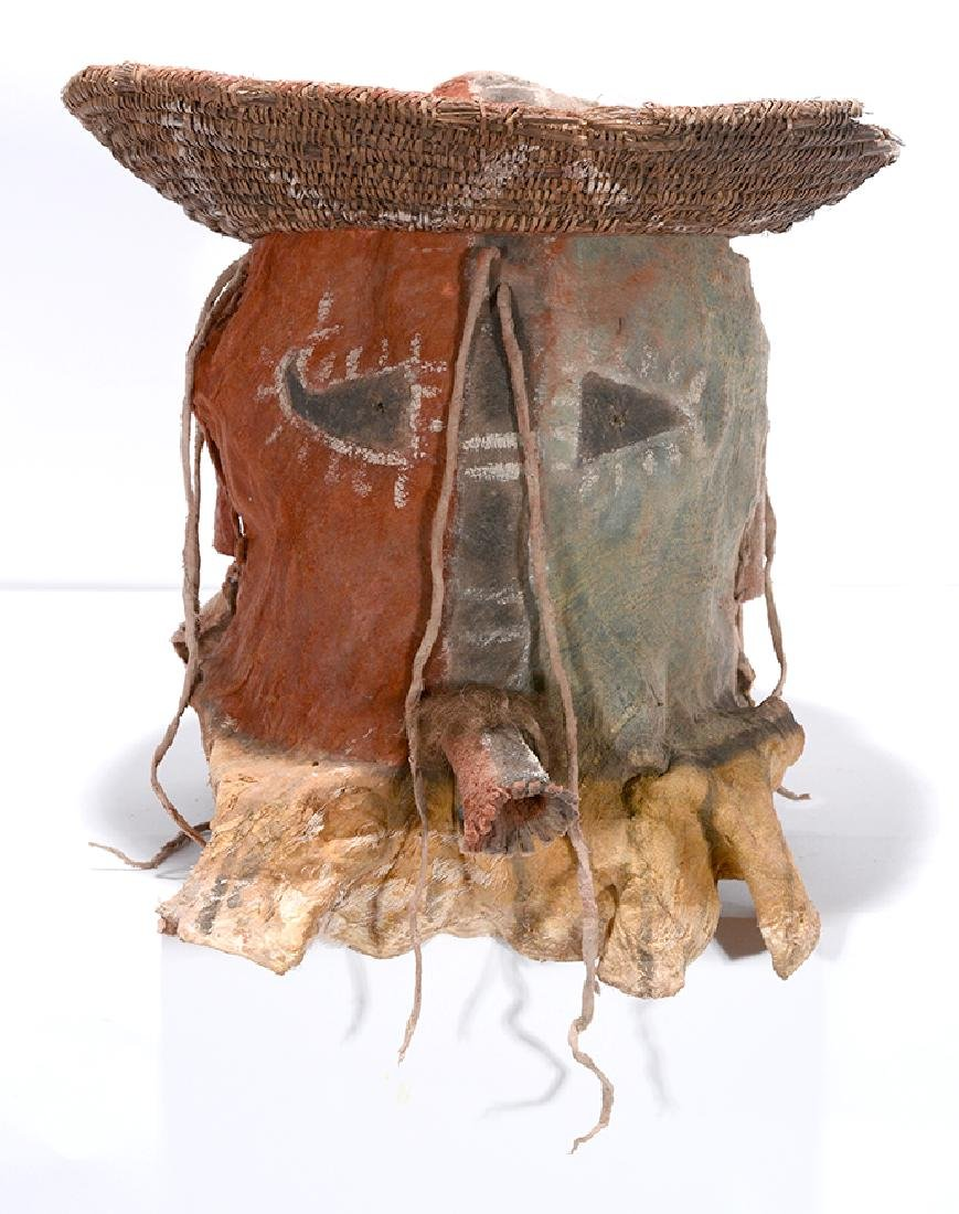 Native American. Yei Mask With Hat.