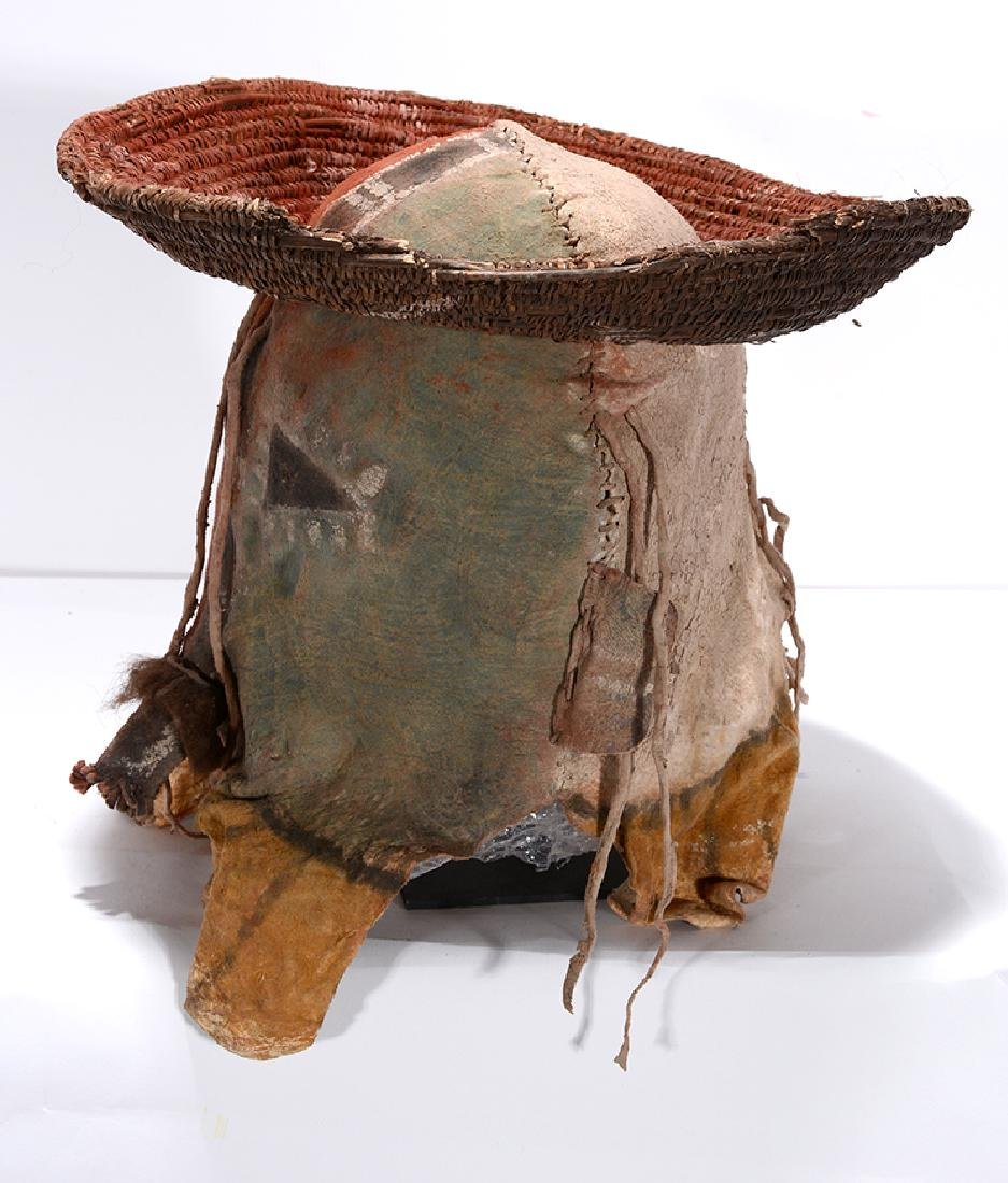 Native American. Yei Mask With Hat. - 6
