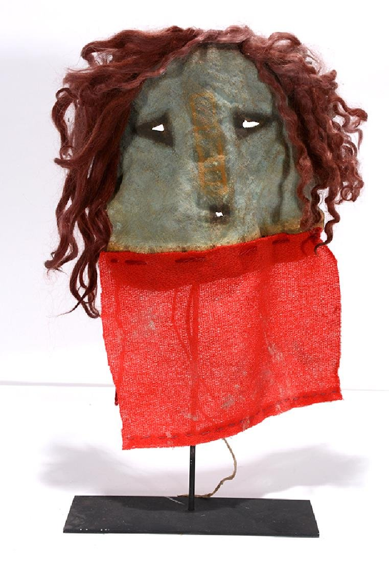 Native American. Yei Mask With Red. - 4