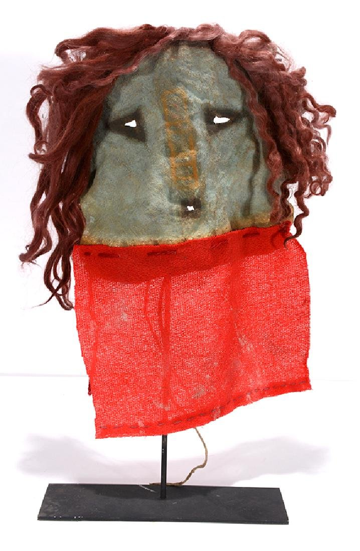 Native American. Yei Mask With Red.