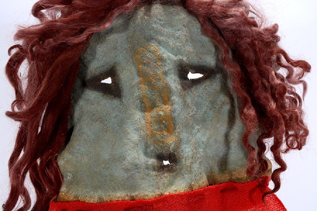 Native American. Yei Mask With Red. - 2
