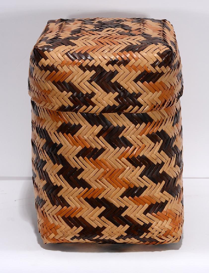 Rowena Bradley. Cherokee Storage Basket. - 2