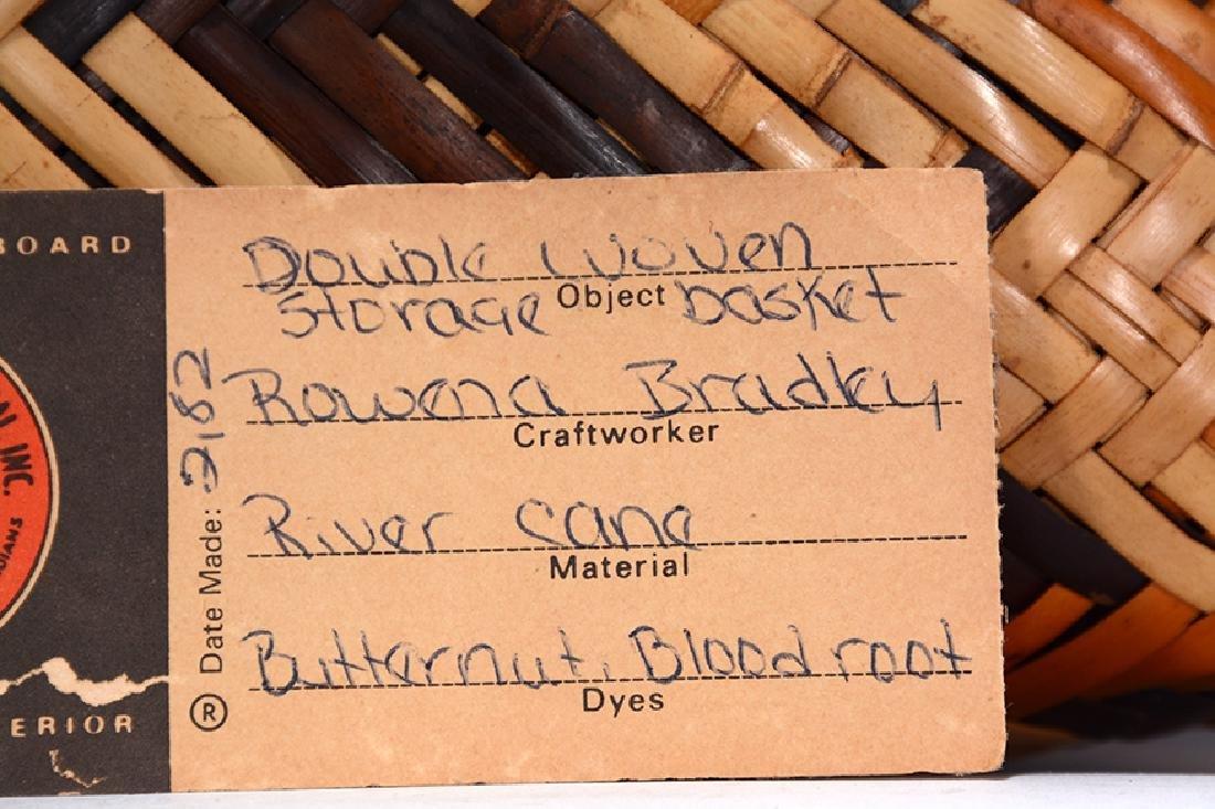 Rowena Bradley. Cherokee Storage Basket. - 5