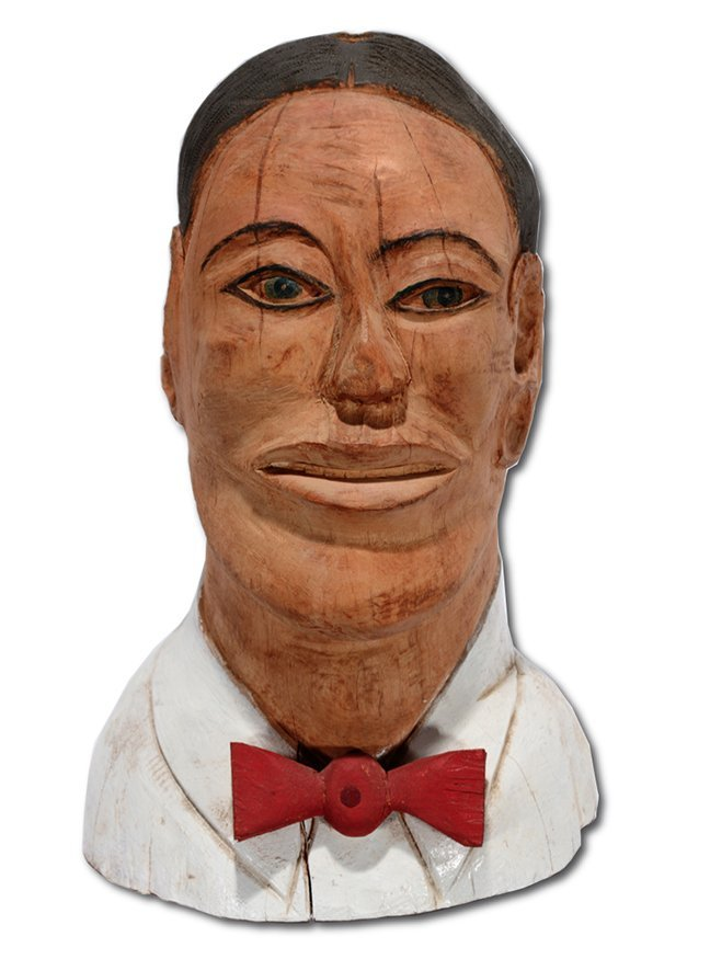 S.L. Jones. Man In Red Bow Tie Bust.
