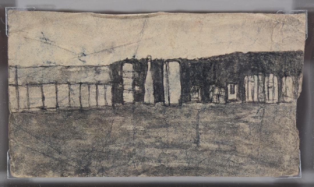 James Castle. Views Of Idaho Farms. - 2