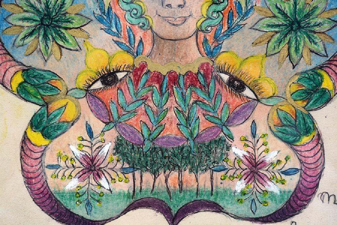 Minnie Evans. Untitled, #208. - 4