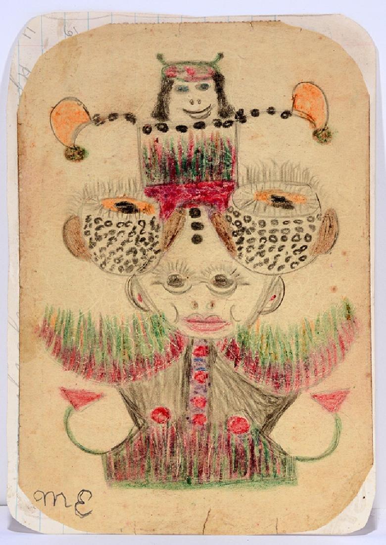 Minnie Evans. Garden Fantasy Creature.