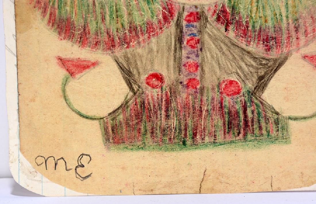 Minnie Evans. Garden Fantasy Creature. - 2