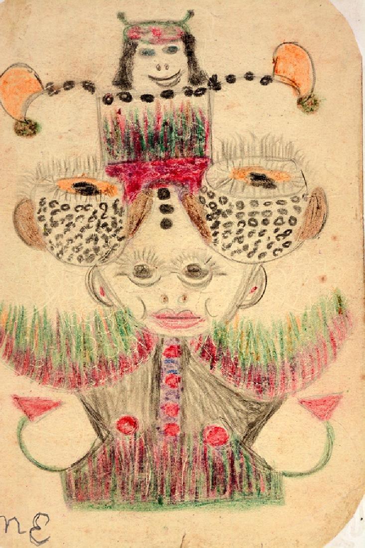 Minnie Evans. Garden Fantasy Creature. - 3