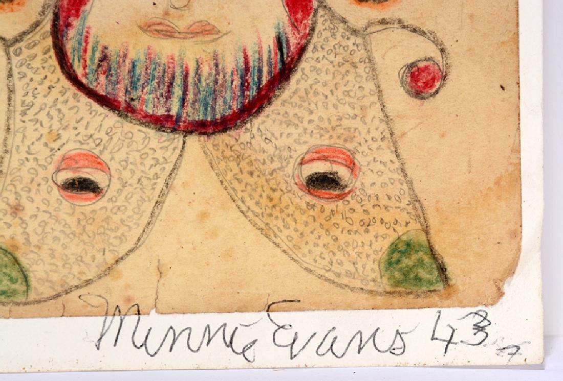 Minnie Evans. Four Faces. - 3