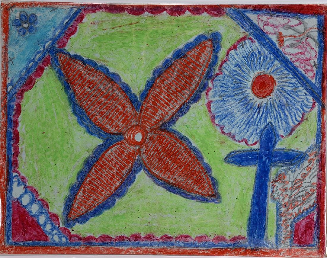 Nellie Mae Rowe. Flower With Cross.