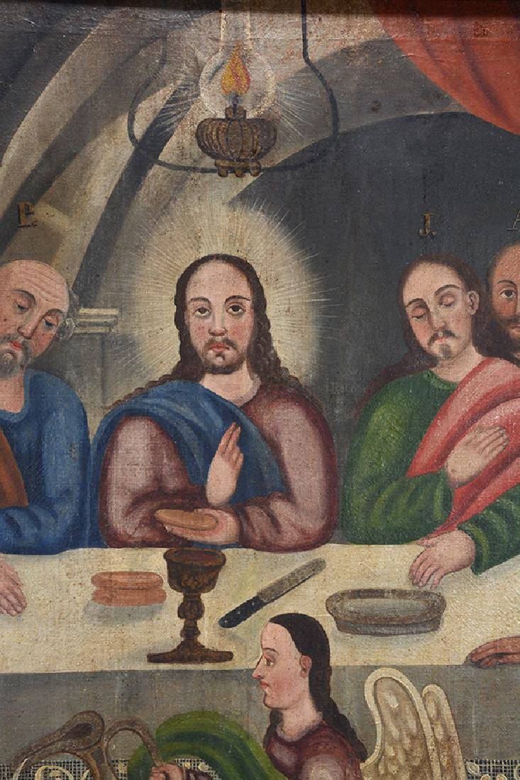 Large Painting Of The Last Supper. - 5