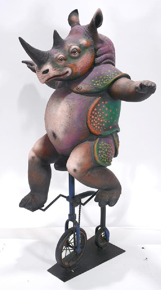 Sergio Bustamante. Rhino En Bicicleta.