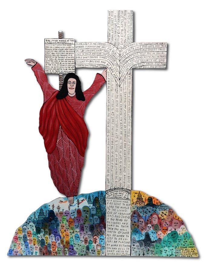 Howard Finster. 4 Ways Of Cross.