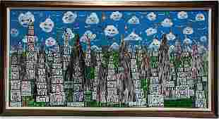 Howard Finster. The Great Holy City.