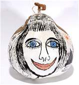 Howard Finster. Decorated Gourd.