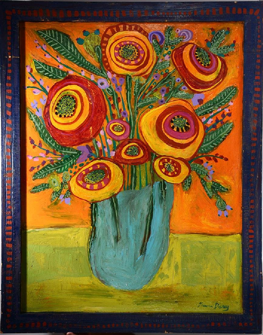 Theresa Disney. Large Flower In Vase.