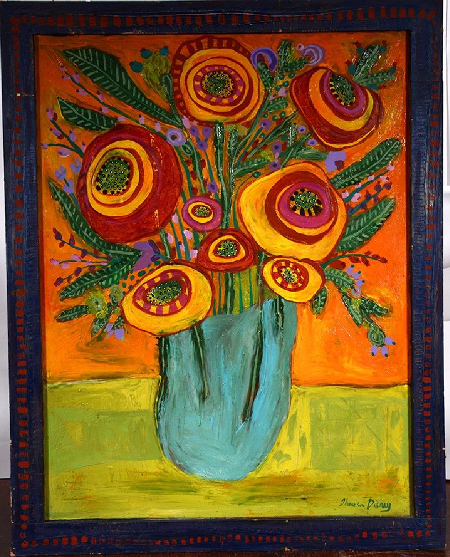 Theresa Disney. Large Flower In Vase. - 2