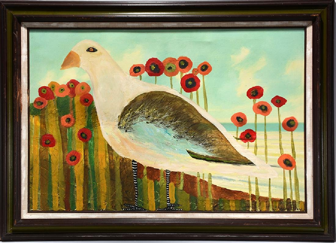 Theresa Disney. Dove In Poppy Field.