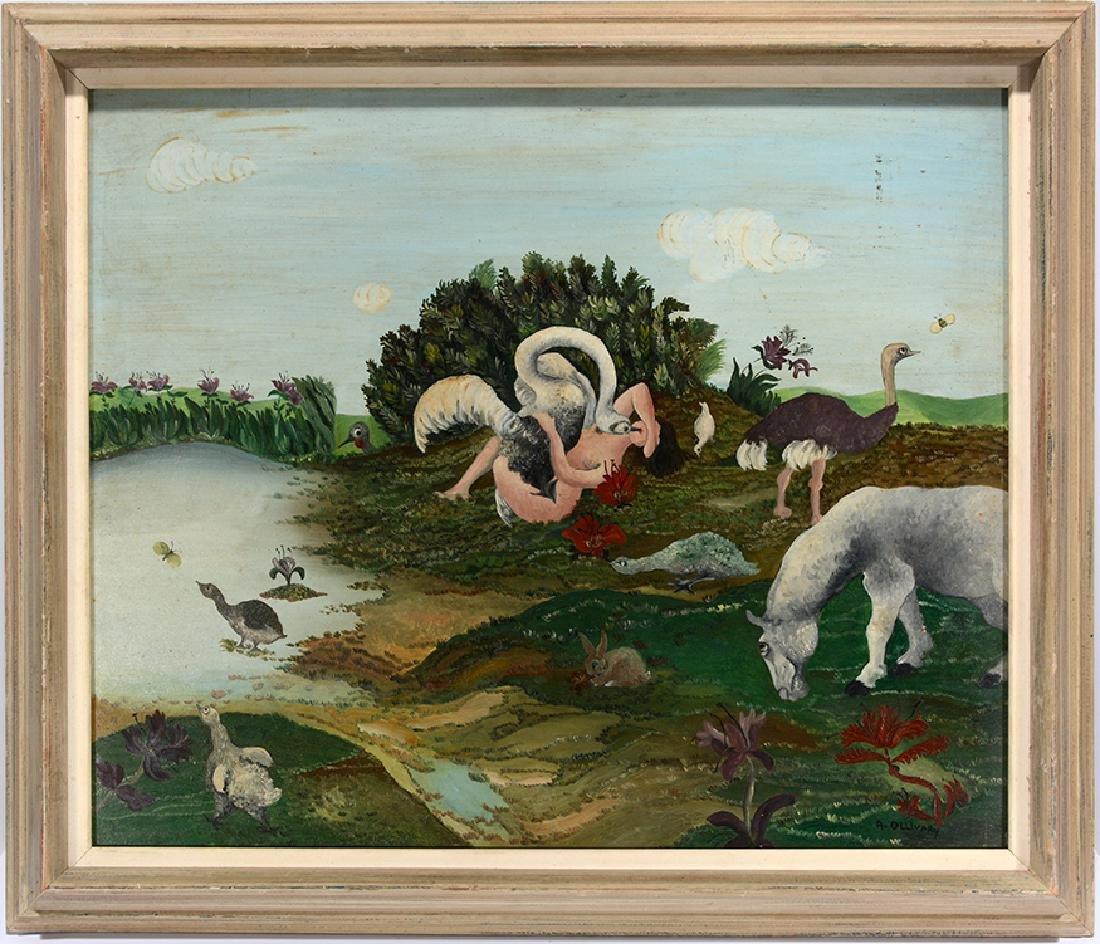 R. Ollivary. Leda & The Swan.