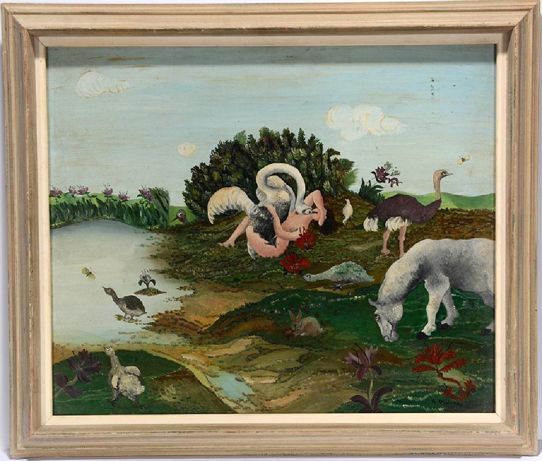 R. Ollivary. Leda & The Swan. - 7