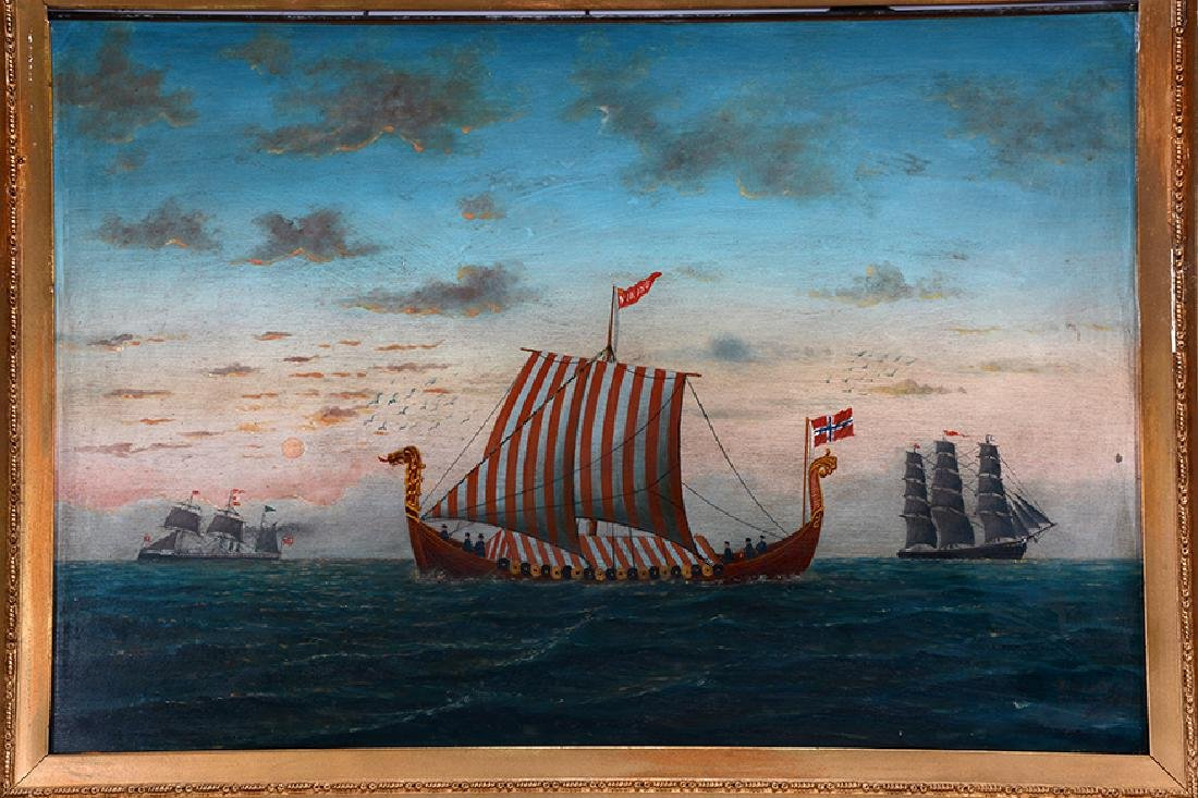 L. Larson. Viking Ship. - 8