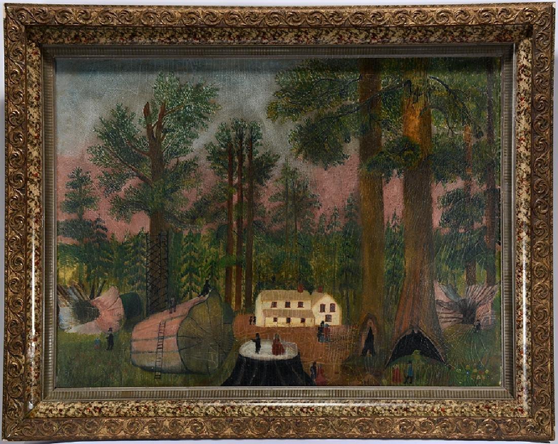 New England Woodsmen w Giant Trees. - 2