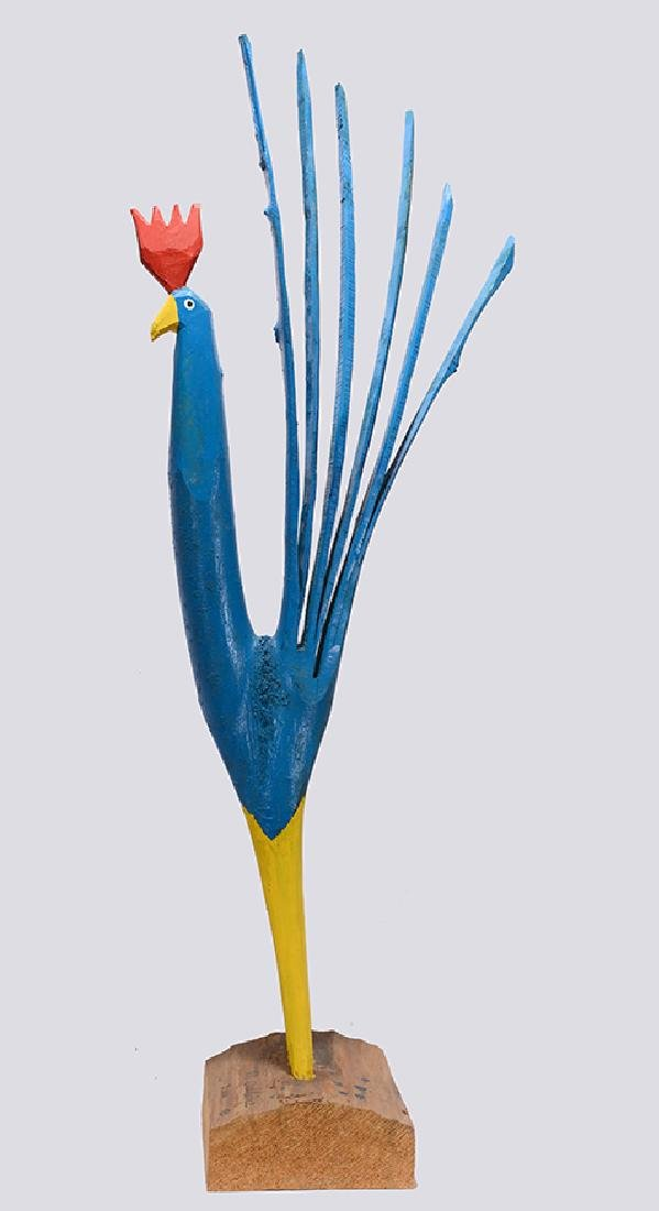 Minnie Adkins. Giant Blue Rooster. - 3