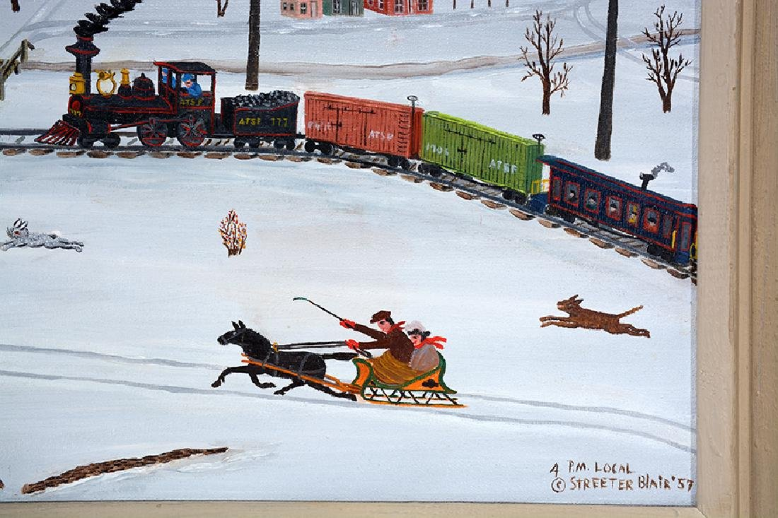 Streeter Blair. Snow Scene with Train. - 3