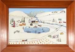 Streeter Blair. Winter Scene On Farm.