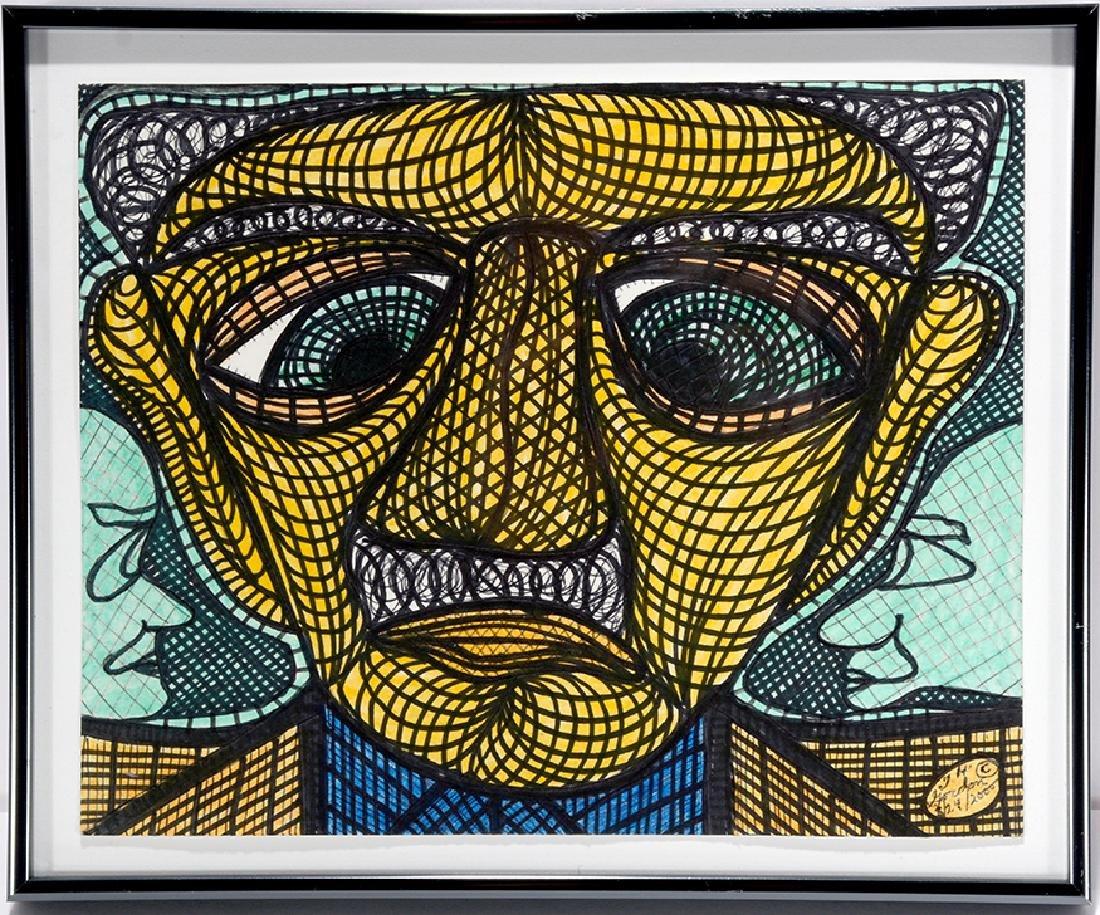 Ted Gordon. Yellow Face Man.