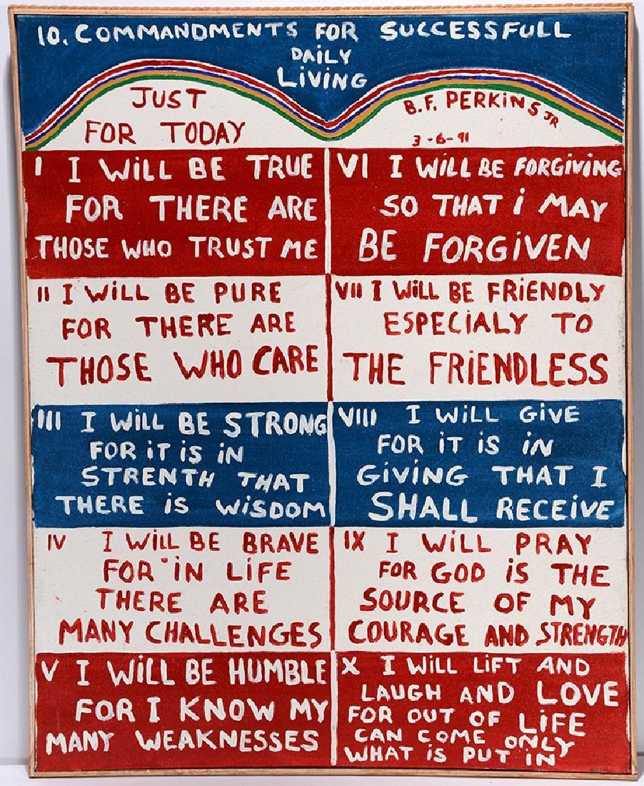 B.F. Perkins. Commandments For Living.