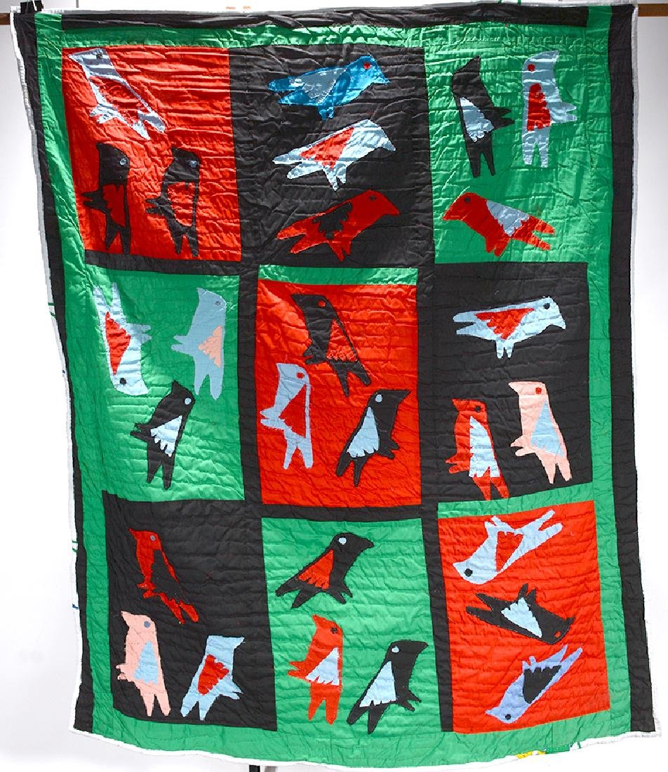 Sarah Mary Taylor. Crow & Song Birds Quilt.