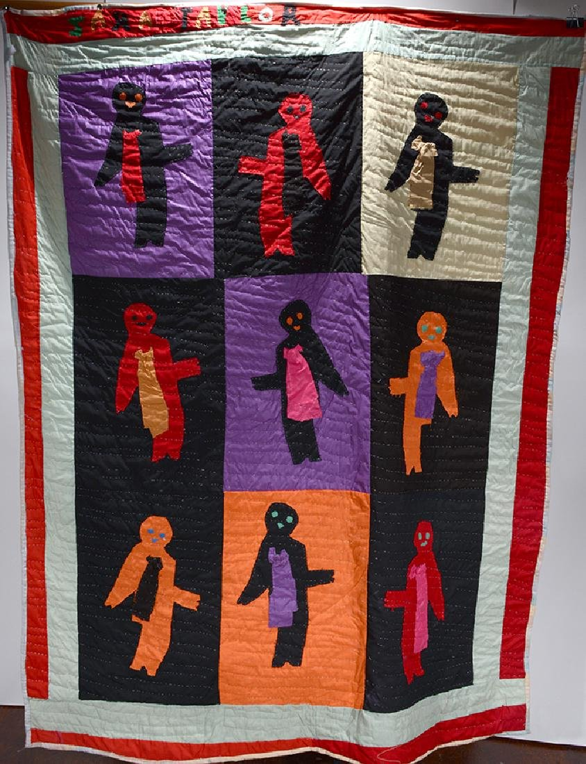 Sarah Mary Taylor. Multi-Colored Figs. Quilt.
