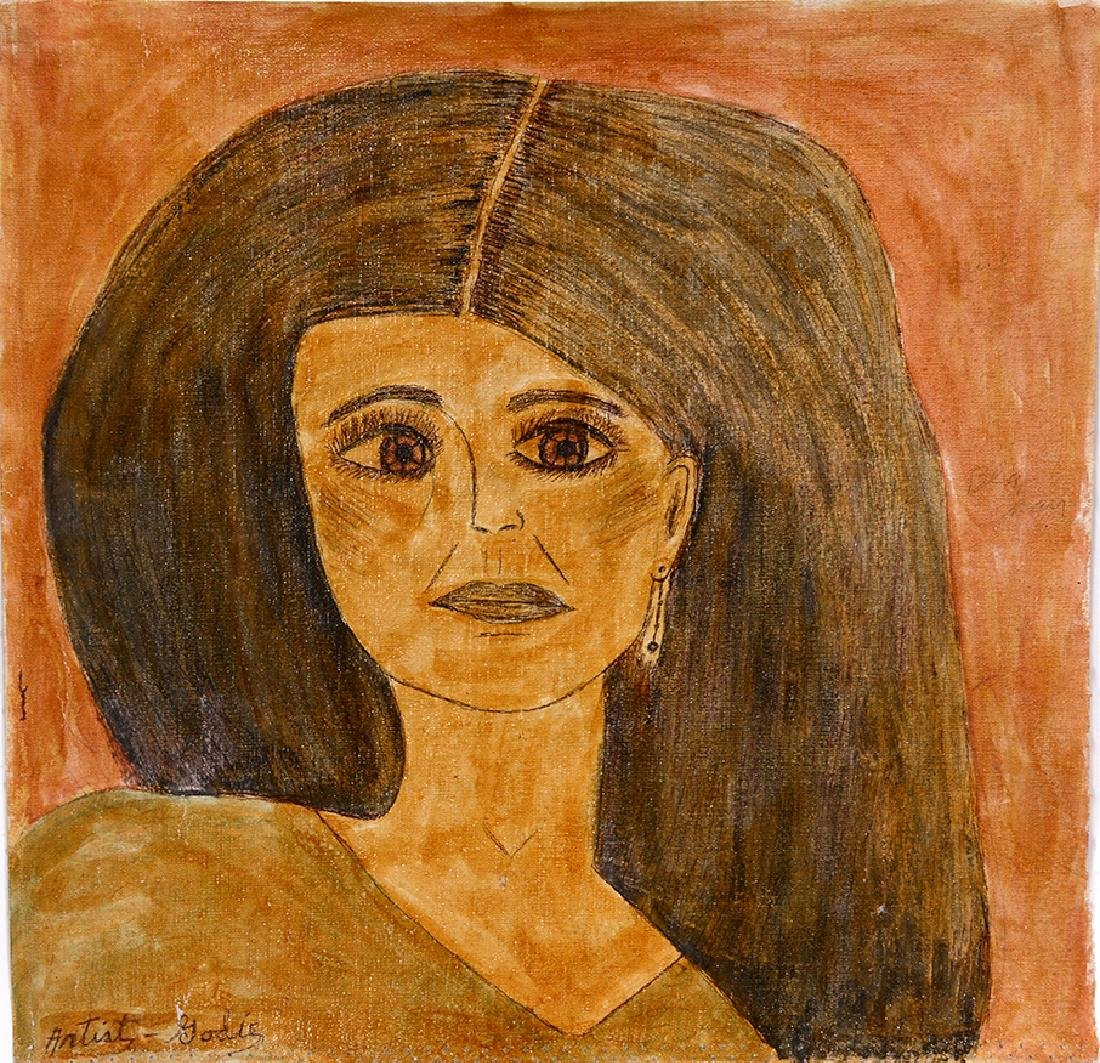 Lee Godie. Black Haired Woman. - 5