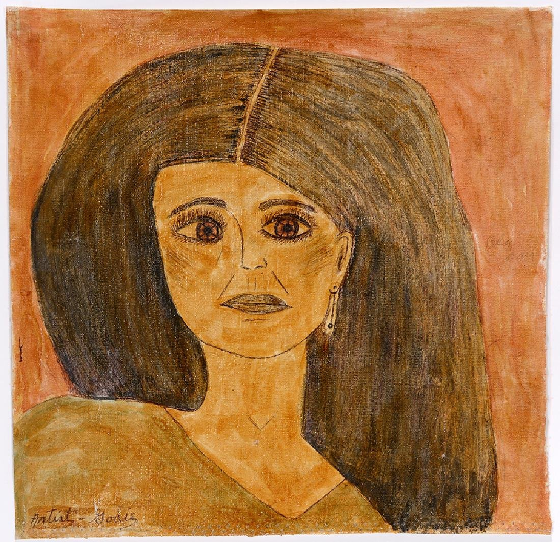 Lee Godie. Black Haired Woman.