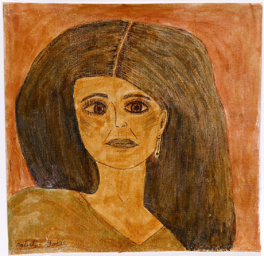 Lee Godie. Black Haired Woman. - 2