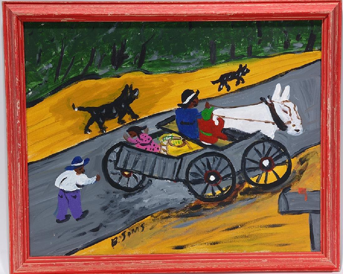 Bernice Sims. Mule Wagon.