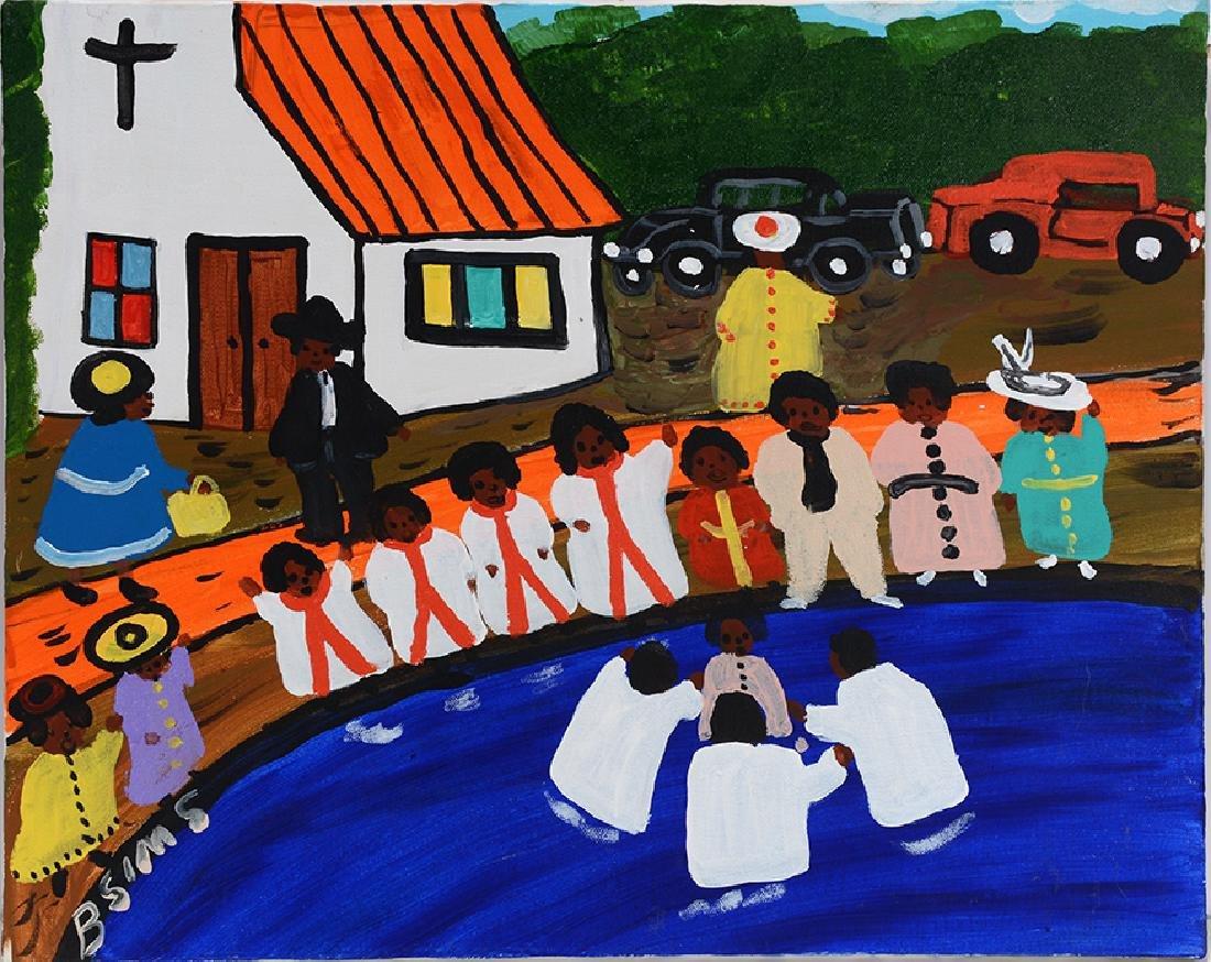 Bernice Sims. Baptism.