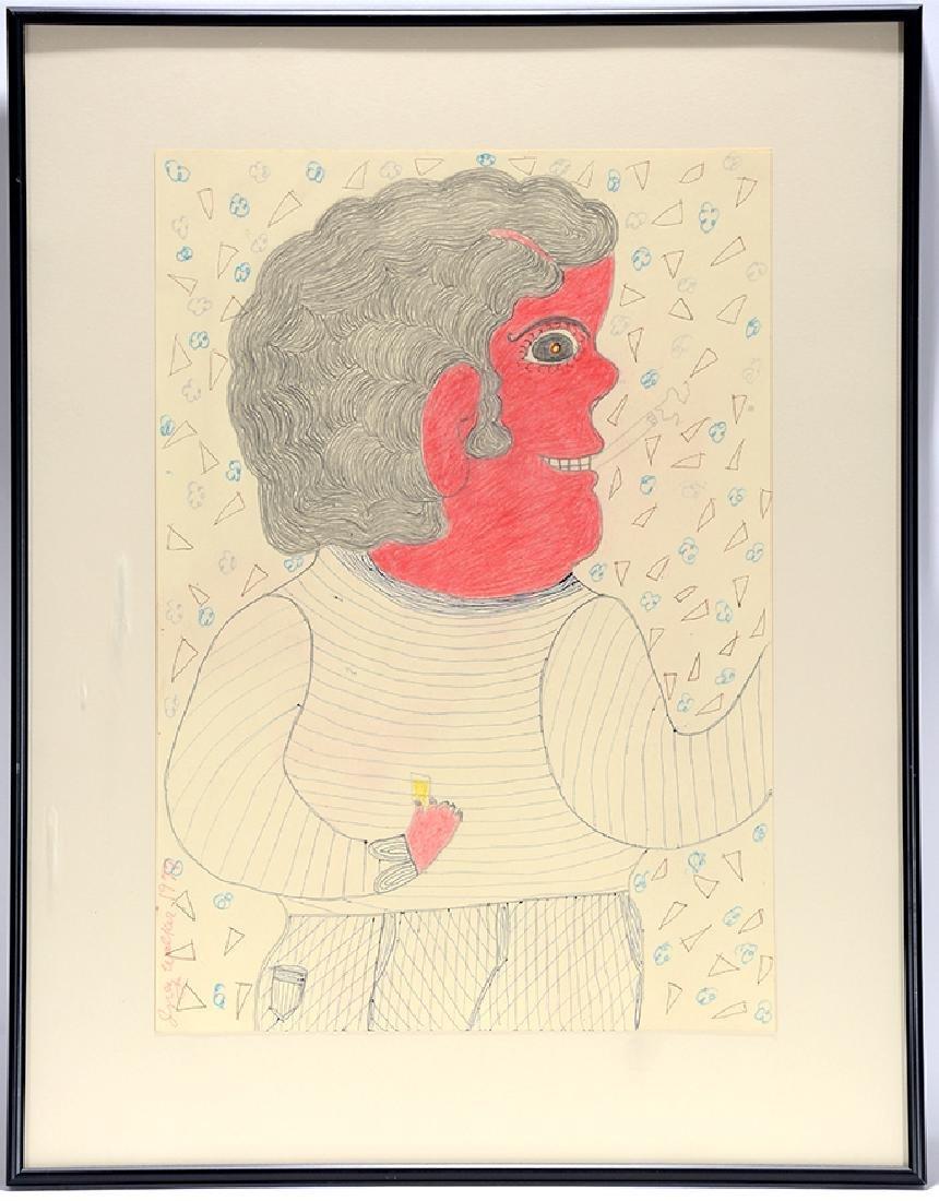 Inez Nathaniel Walker. Red Face Man At Bar