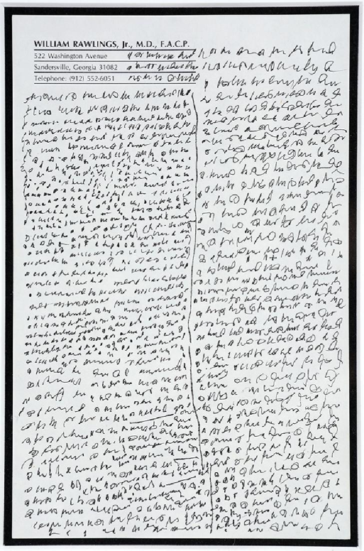 J.B. Murry. Writing Rawlings Letterhead.