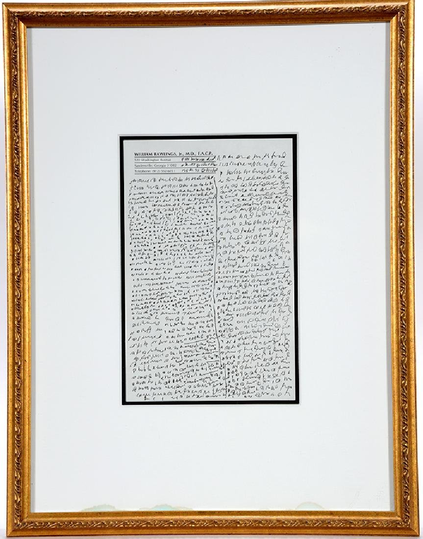 J.B. Murry. Writing Rawlings Letterhead. - 2
